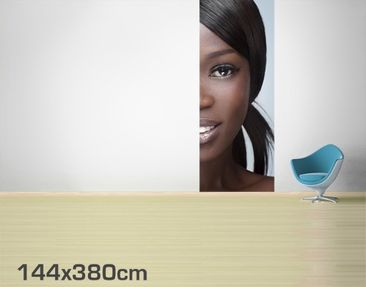 Product picture Photo Wall Mural Black Beauty Close Up