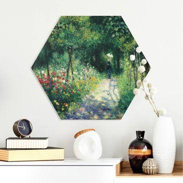 Produktfoto Hexagon Bild Forex - Auguste Renoir - Frauen im Garten vergrößerte Ansicht in Wohnambiente Artikelnummer 251266-XWA