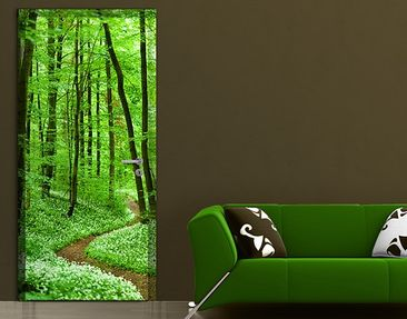 Produktfoto Door Wall Mural Romantic Forest Track