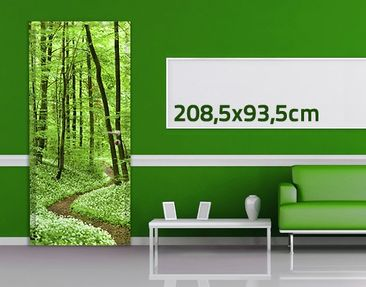 Product picture Door Wall Mural Romantic Forest Track