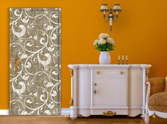 Produktfoto TürTapete Ornamentstruktur