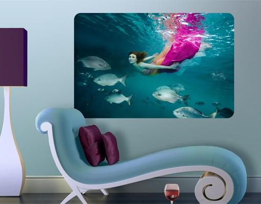 Produktfoto Selbstklebendes Wandbild Underwater Beauty