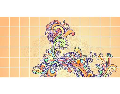 Produktfoto Fliesenbild Sommerillustration