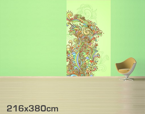 Produktfoto Blumen Mustertapete selbstklebend -...
