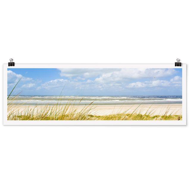 Produktfoto Poster - An der Nordseeküste - Panorama Querformat