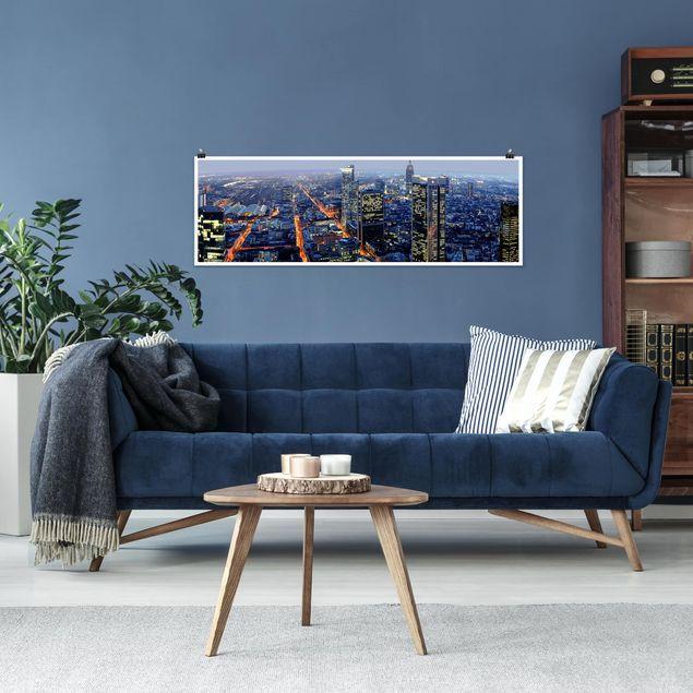 Produktfoto Poster - Frankfurt - Panorama Querformat