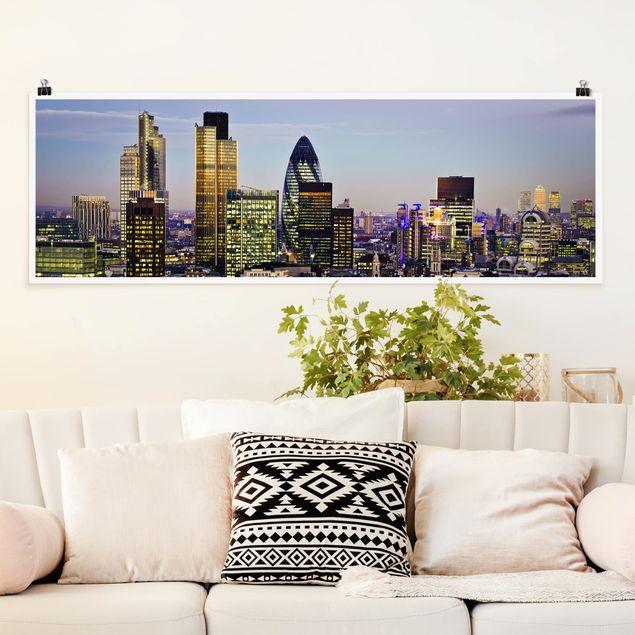 Produktfoto Poster - London City - Panorama Querformat