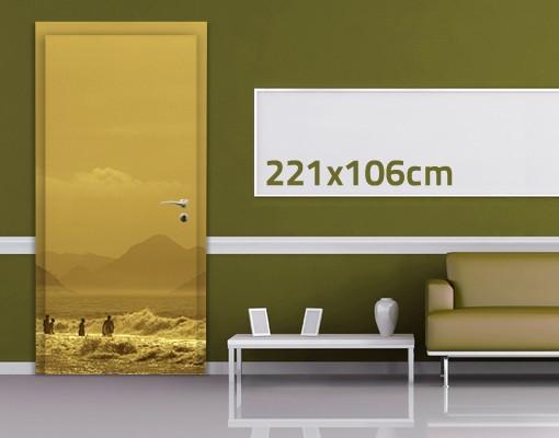 Produktfoto TürTapete Goldküste