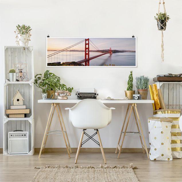 Produktfoto Poster - Golden Gate Bridge in San Francisco - Panorama Querformat