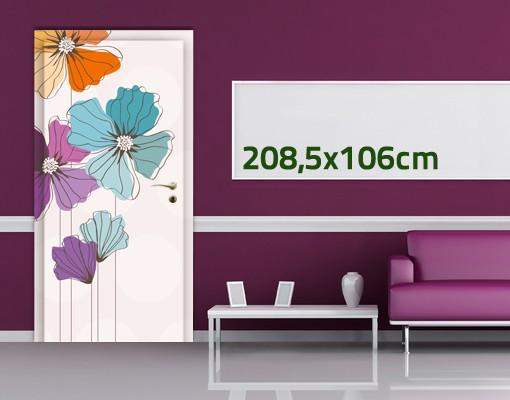 Produktfoto Türtapete Blumen selbstklebend -  Mohn in Pastell