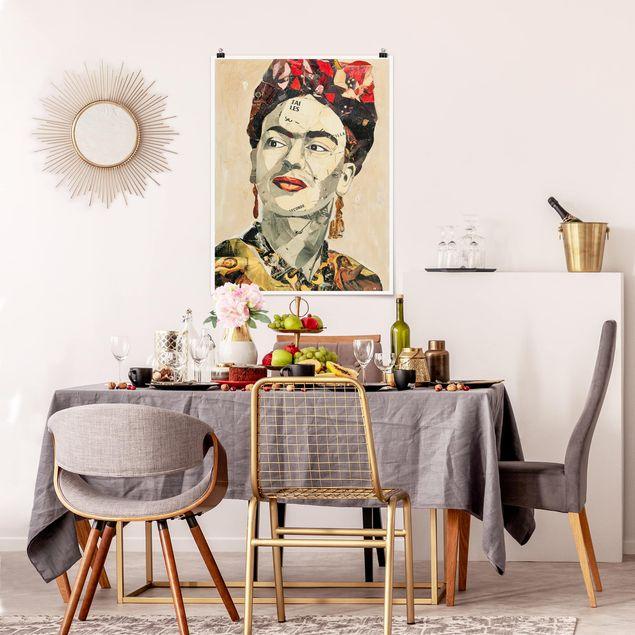 Produktfoto Poster - Frida Kahlo - Collage No.2 - Hochformat 4:3