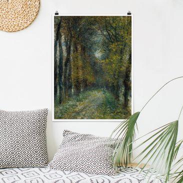 Produktfoto Poster - Auguste Renoir - Die Allee - Hochformat 4:3