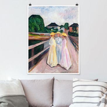Produktfoto Poster - Edvard Munch - Drei Mädchen - Hochformat 4:3