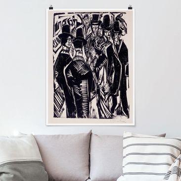 Produktfoto Poster - Ernst Ludwig Kirchner - Straßenszene - Hochformat 4:3