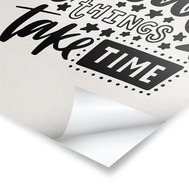 Produktfoto Poster - Great things take time - Hochformat 4:3