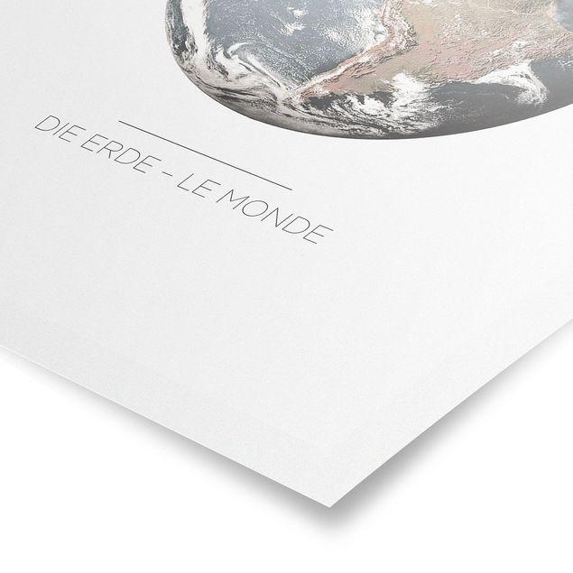 Produktfoto Poster - Le Monde - Die Erde - Hochformat 4:3