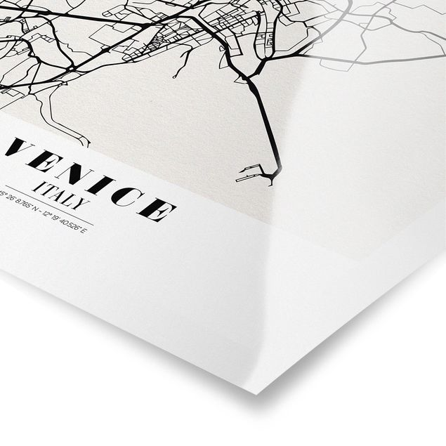 Produktfoto Poster - Stadtplan Venice - Klassik - Hochformat 4:3