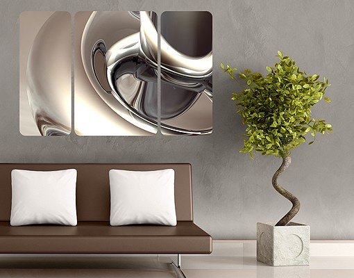 Produktfoto Selbstklebendes Wandbild Glossy Triptychon II