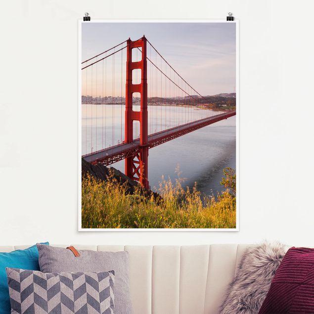 Produktfoto Poster - Golden Gate Bridge in San Francisco - Hochformat 4:3