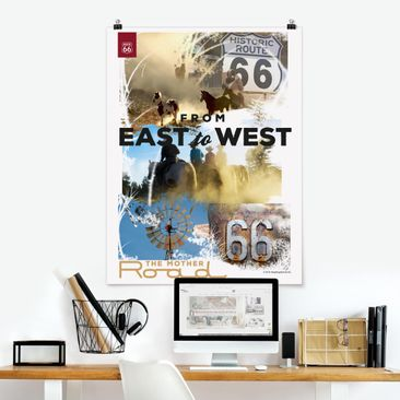 Produktfoto Poster - Route 66 - Collage Mother Road - Hochformat 4:3