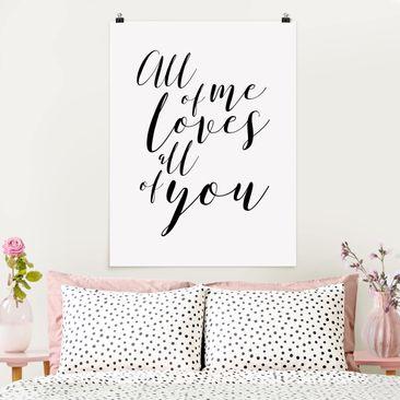 Immagine del prodotto Poster - All Of Me piace All Of You - Verticale 4:3