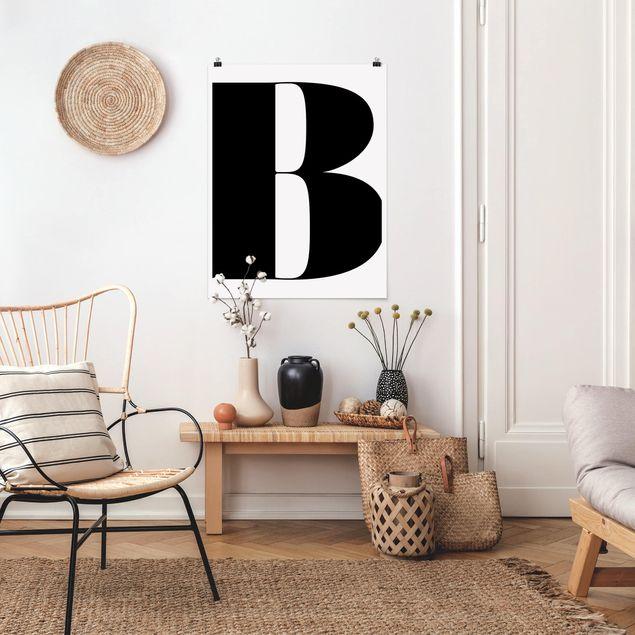 Produktfoto Poster - Antiqua Letter B - Hochformat 4:3