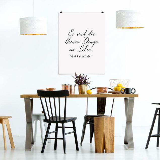 Produktfoto Poster - Es sind die kleinen Dinge im Leben - Hochformat 4:3