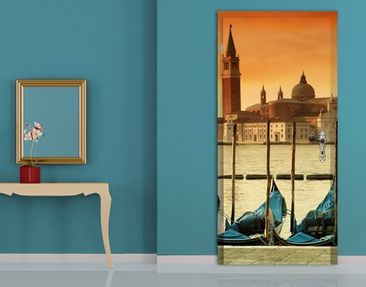 Product picture Door Wall Mural Gondolas In Venice