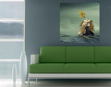 Product picture Wall Mural Kiss Of A Goldfish