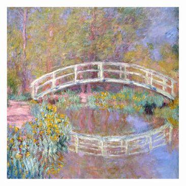 Produktfoto Fototapete - Claude Monet - Brücke Monets Garten - Fototapete Quadrat