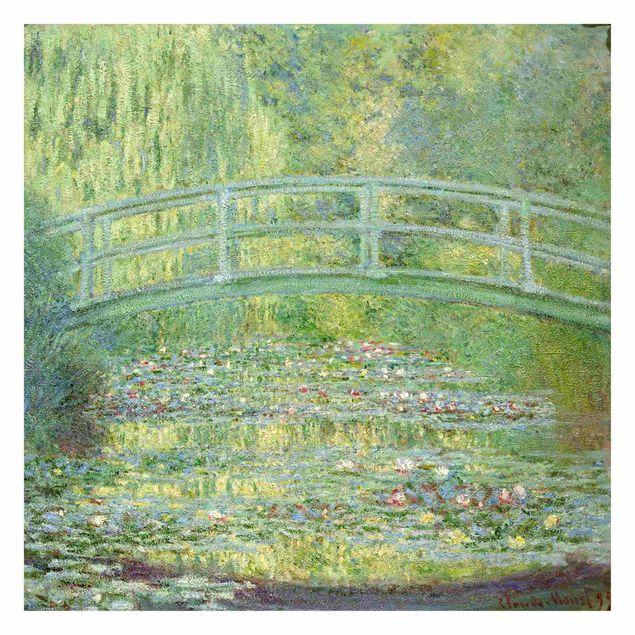 Produktfoto Fototapete - Claude Monet - Japanische Brücke - Fototapete Quadrat
