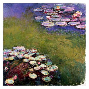 Produktfoto Fototapete - Claude Monet - Seerosen - Fototapete Quadrat
