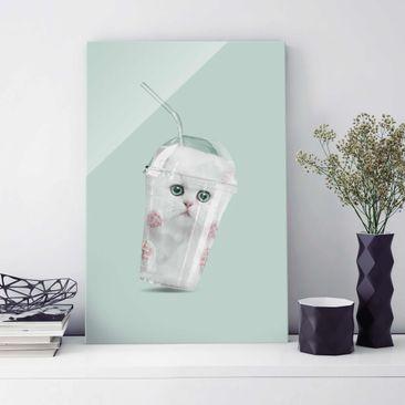 Produktfoto Glasbild - Jonas Loose - Shake mit Katze - Hochformat 3:2