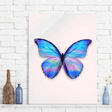 Produktfoto Glasbild - Jonas Loose - Holografischer Schmetterling - Hochformat 4:3