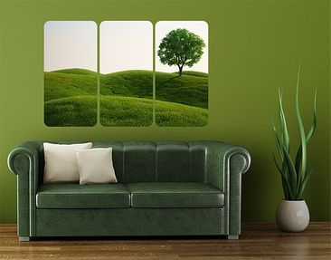 Product picture Wall Mural Green Ease Triptych I