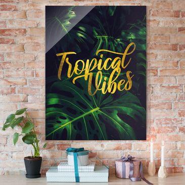 Produktfoto Glasbild - Dschungel - Tropical Vibes - Hochformat 4:3