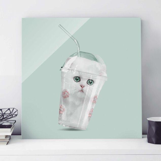 Produktfoto Glasbild - Jonas Loose - Shake mit Katze - Quadrat 1:1