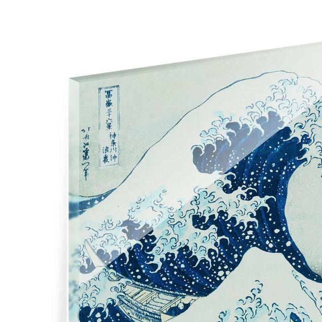 Produktfoto Glasbild - Katsushika Hokusai - Die grosse Welle von Kanagawa - Querformat 2:3