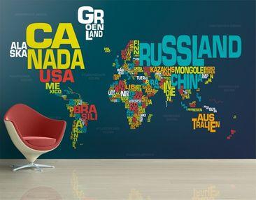 Immagine del prodotto Carta da parati adesiva - no.MW61 World Of Letters