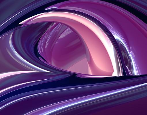 Produktfoto Selbstklebendes Wandbild Circles in Purple Triptychon II