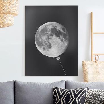 Produktfoto Leinwandbild - Jonas Loose - Luftballon mit Mond - Hochformat 4-3 vergrößerte Ansicht in Wohnambiente Artikelnummer 255445-XWA