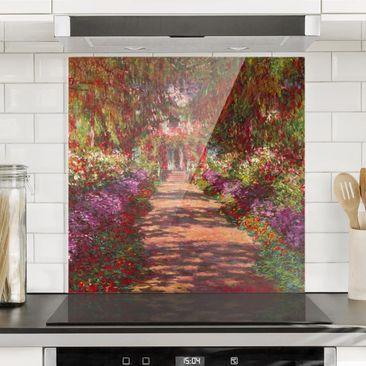 Produktfoto Spritzschutz Glas - Claude Monet - Weg in Monets Garten in Giverny - Quadrat 1:1