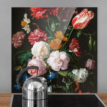 Produktfoto Spritzschutz Glas - Jan Davidsz de Heem - Stillleben mit Blumen in einer Glasvase - Quadrat 1:1