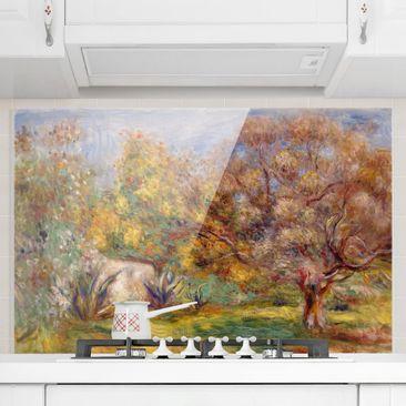 Immagine del prodotto Paraschizzi in vetro - Auguste Renoir - Giardino con ulivi - Orizzontale 2:3