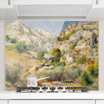 Produktfoto Spritzschutz Glas - Auguste Renoir - Felsen bei Estaque - Querformat 3:4