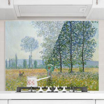 Produktfoto Spritzschutz Glas - Claude Monet - Felder im Frühling - Querformat 3:4