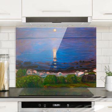 Produktfoto Spritzschutz Glas - Edvard Munch - Sommernacht am Meeresstrand - Querformat 3:4
