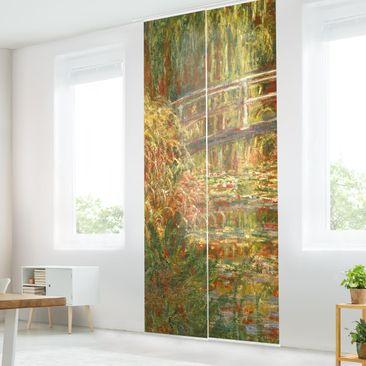 Immagine del prodotto Tende scorrevoli set - Claude Monet - Lo stagno delle ninfee e Ponte giapponese (Armonia in rosa) - 2 Pannelli