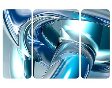Product picture Wall Mural Cold Steel Triptych II