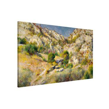 Produktfoto Magnettafel - Auguste Renoir - Felsen bei Estaque - Memoboard Querformat 2:3
